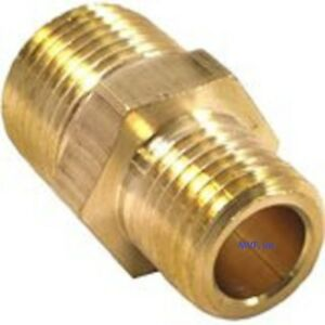 """1/2"""" x 1/4"""" Brass Hex Pipe Reducing Nipple NPT Threaded Connector <123A-DB"""