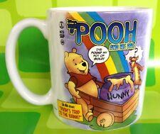 HUGE DISNEY STORE POOH TIGGER CERAMIC COFFEE MUG CUP - RAINBOW HONEY HUNNY POT