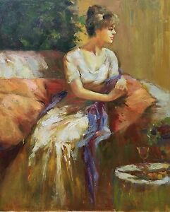 Tina,Original Oil Painting by N. Knox, 51 x 61 cm