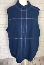 San Michelle Bay Womens Vest Fleece Relaxed Sleeveless Activewear Blue Sz 2X