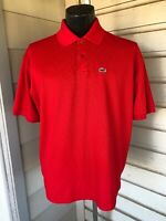 Lacoste Alligator Mens Polo Red Size 6
