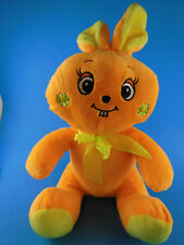 "Easter Bunny Rabbit Plush Orange & Yellow Whimsical Sugar Loaf 13"" sitting"