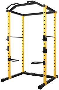 Adjustable Power Cage Squat Rack Home Gym Workout Equipment Multi Station 1000Lb