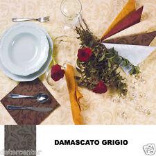 1000 TOVAGLIOLI MONOUSO CARTA SECCO AIRLAID DAMASCATO GRIGIO CM. 40X40