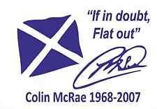 Colin MCRAE nel dubbio FLAT OUT Adesivo Decalcomania Bandiera 200mm x 160mm