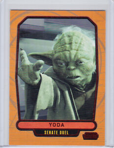 2013 Topps Star Wars Galactic Files 2 Yoda RED Foil Parallel Card #437 15/35