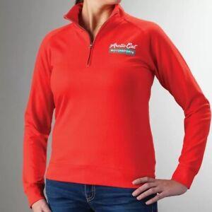 Arctic Cat Women's Motorsports 1/4 Zip Sweatshirt Hoodie Poppy Extra Large