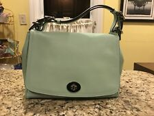 COACH LEGACY Smooth Leather ROMY TOP HANDLE CROSSBODY SHOULDER BAG Mint