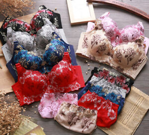 UK Womens Sexy Lace Padded Push up Bra Set Lingerie Ladies Underwear 32-40 ABCD