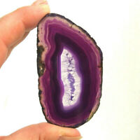 Purple Agate Slice with Quartz Crystal Polished Banded Geode Slice 8cm x 4.5cm