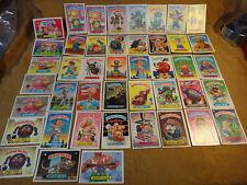 1986 & 1987 Garbage Pail Kids Sticker Lot Of 44 Cards Lot B - Free S&H USA