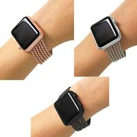 Stainless Steel 6 or 3 Row Chain Link Apple Watch Band - All Series, All Faces