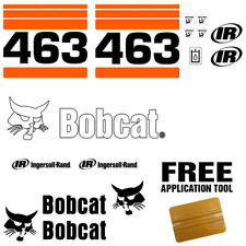 Bobcat 463 Orange Skid Steer Set Vinyl Decal Sticker 16 Pc Set Free Applicator