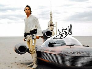 MARK HAMILL AUTHENTIC SIGNED STAR WARS 10X8 PHOTO AFTAL#198