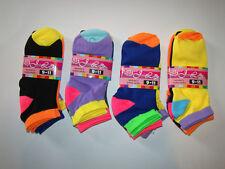 Women 9-11 LOT OF 12 Sports Socks Crew Ankle Low Cut NWT Multicolor