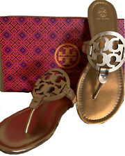Tory Burch Miller Sandals Rose Gold Size 10