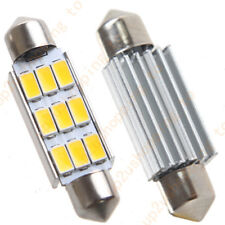 "2 x Car Dome 5630 SMD 9 LED Bulb Light Interior Festoon 42MM 1.72"" Warm White"