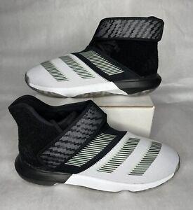Mens Adidas Harden B/E 3 Basketball Shoes Black White Glow Green EF5296 Size 12