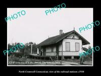 OLD LARGE HISTORIC PHOTO NORTH CROMWELL CONNECTICUT THE RAILROAD STATION c1930