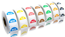 Day Dot Labels Food Label Set of 7 Rolls x 1000 / Catering Stickers Food Hygiene