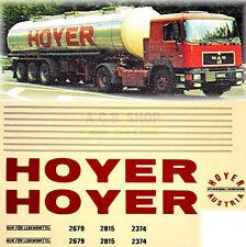 MAN HOYER AUTRICHE 1:87 CAMION Autocollant Stickers