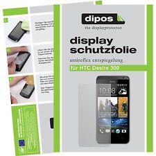 2x HTC Desire 300 Schutzfolie matt Displayschutzfolie Folie dipos Displayfolie