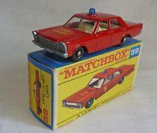 Lesney Matchbox Toys MB59c Ford Galaxie Fire Chief Car F Box