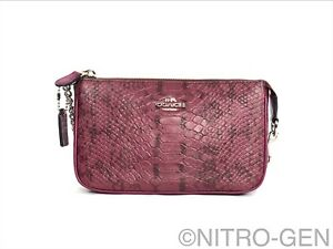 Coach Nolita Wristlet 19 In Colorblock Exotic Embossed Leather Brand New