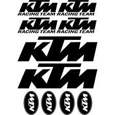 Kit de 10 Stickers Autocollant KTM Ktm Gris Ktm01