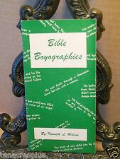 1945 Bible Boyagraphies Kenneth L Wilson Judson Press Christian Party Fun Trivia