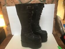 Pleaser Men's US 7 Stack 308 Platform Boots Goth Industrial