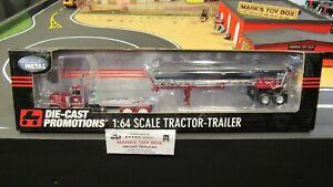 DCP#32597 MAC CORPORATE PETE 379 SEMI TRUCK& ROUND END DUMP TRAILER 1:64/PL