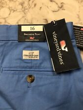Vineyard Vines Youth Boy's Breaker Pants 16, Blue, Nwt $52