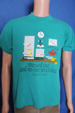 Vintage '80s Stressed out and no one to choke Myrtle Beach SC green t shirt L