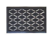 Paillasson caoutchouc noir - 60 x 40 x 1.2 cm - Haute qualité