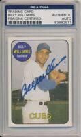 1986 Sports Design Products Billy Williams Signed Card #8 PSA/DNA Auto Cubs