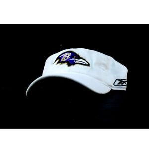 Reebok NFL Baltimore Ravens White Flex Fit Cap Hat