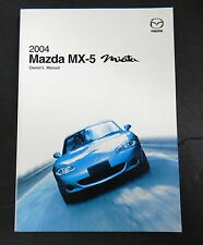 2004 Mazda MX-5 Miata Owners Manual Parts Service New Original Car Automobile