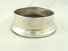 TIFFANY & CO STERLING SILVER WINE COASTER OR BOTTLE HOLDER AESTHETIC SPIDER WEB