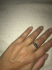David Yurman Cable Classics Single-Station ring with Sapphire and Gold, size 8