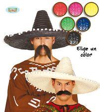 riesiger Stroh Sombrero für Erwachsene Mexiko Hut Farben groß bunt ca. 61 cm