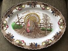 VINTAGE KING TOM TURKEY PLATTER THANKSGIVING IRONSTONE LOOK AT THE COLORS!