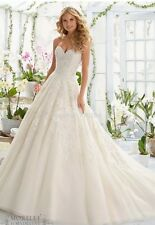 UK Sexy White/ivory Strapless A Line Lace Wedding Dress Bridal Gown Custom Made