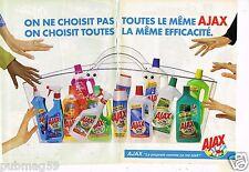 Publicité Advertising 1997 (2 pages) Les Produits d'entretien Ajax