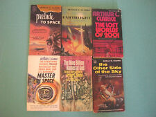 Arthur C. Clark,  Lot of 6, Vintage PB, Prelude to Space, The Lost Worlds of ...