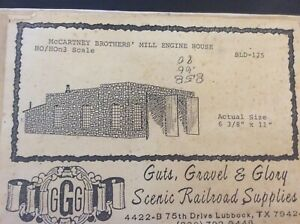 "GUTS , GRAVEL & GLORY  HO-HOn3 KIT BLD-125 "" McCartney Bro's Mill Engine House"""