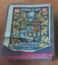 Portugal Old Vintage small Empty Matchbox Fosforos De Papel