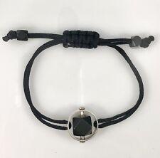 Azabache/Jet Spinner Protection Bracelet Sterling Silver, New