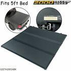 FIT FOR 05-15 TOYOTA TACOMA 5FT SHORT BED HARD LOCKING TRI-FOLD TONNEAU COVER U