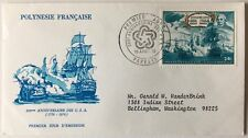 French Polynesia FDC cover 1976 US Bicentennial mailed to USA